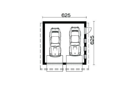 D2 - Rzut garażu