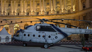 Photo: Что за военный вертолёт в центре Вены?