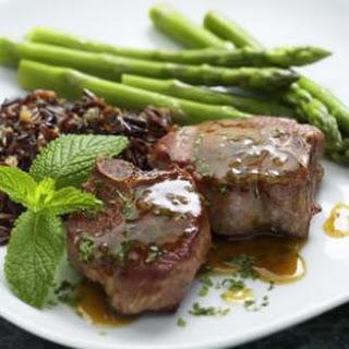 Lamb Chops with Mint Pan Sauce.