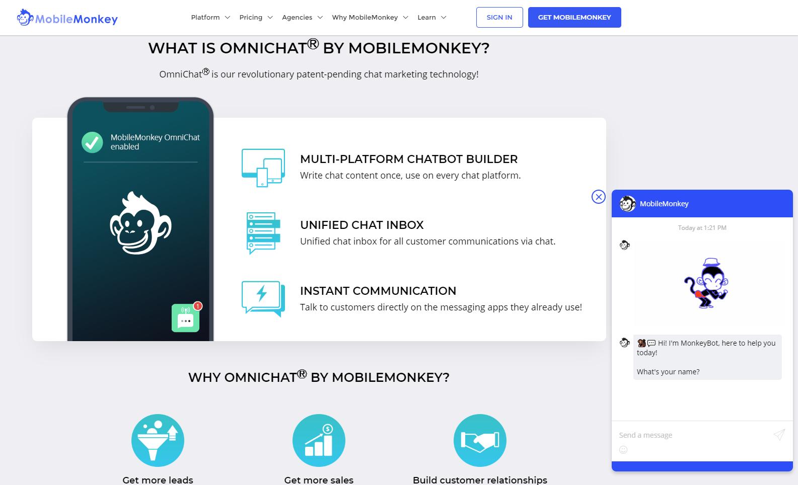 free social media software MobileMonkey