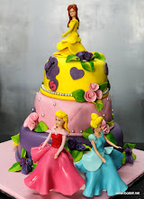 Photo: 3 Tired Princess themed Fondant cake
