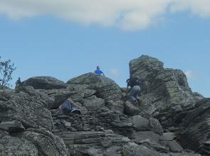 Photo: Certains sont presque au sommet.