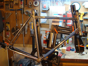 Photo: Final dry fitting to check all the lugs and slot the seat stays.