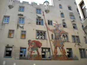 Photo: The only surviving mural of many