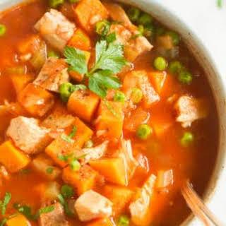 Sweet Potato Chicken Soup.