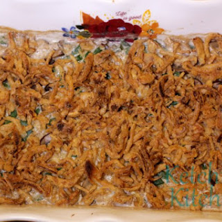 Homemade Green Bean Casserole.