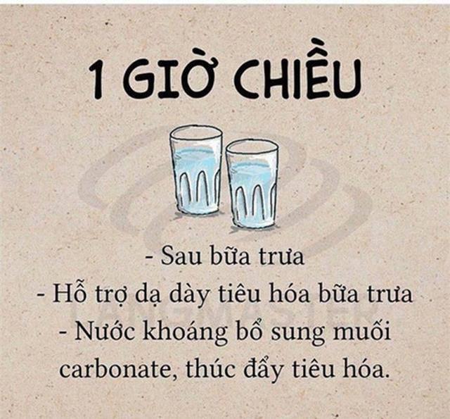 uống một cốc nước sau bữa ăn hỗ trợ tiêu hóa