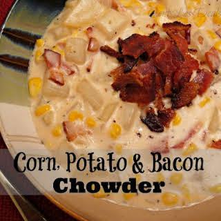 Corn, Potato & Bacon Chowder.