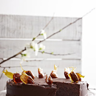 Chocolate Hazelnut Cake with Candied Pecans