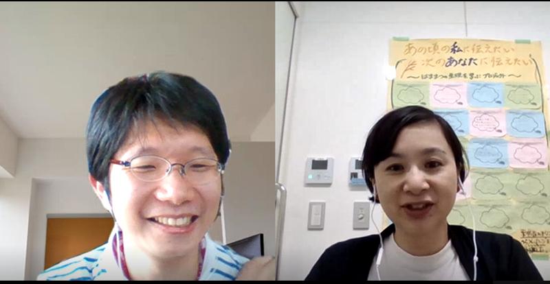 アルムナイ事務局鶴田さん(左)と矢澤さん(右)
