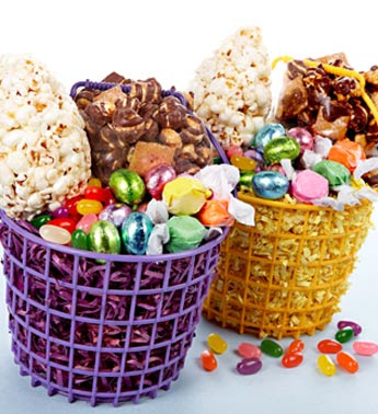 Photo: Easter Popcorn and Candy Gift Basket