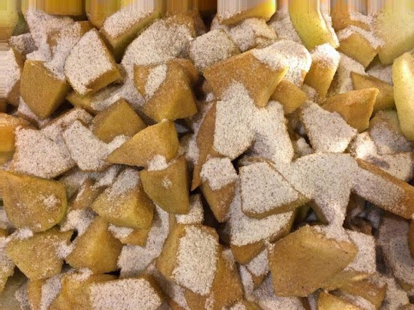 Combine the sugar mixture with the apples, mixing to evenly coat apples. Chill in...