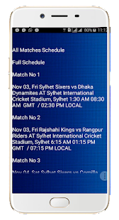 Bangladeshi Premier League Schedule - náhled