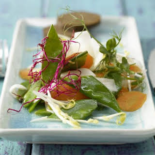 Turnip Salad with Sprouts.