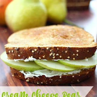 Cream Cheese Pear Sandwich.