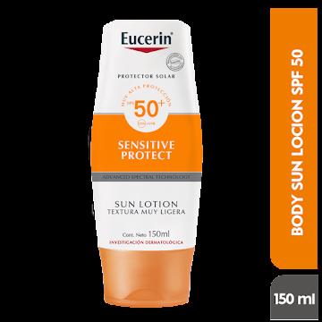 Protector solar EUCERIN   Sun Lotion Textura Ligera FPS50 UVA+UVB x150Ml