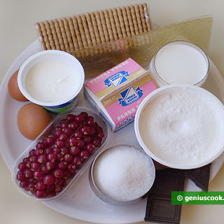Ingredients for Cheesecake with Chocolate