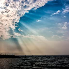 The last rays by Rajarshi Chowdhury - Landscapes Sunsets & Sunrises