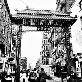 Chinatown  by Abi Gilson - Novices Only Street & Candid ( england, london, black and white, british, family, chinatown, bw, travel, china )