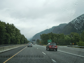 Photo: On the road East out of Portland, following the Columbia river