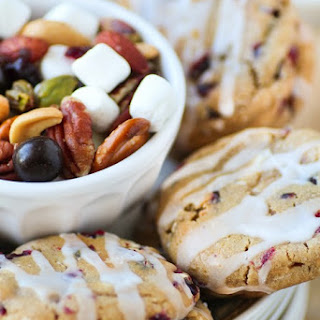 Sweet and Salty Deluxe Mixed Nuts Trail Mix + White Chocolate Chunk Cranberry Cashew Cookies