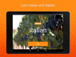 Screenshot of Learn Italian with Babbel