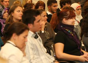 Photo: Das Publikum war bunt gemischt aus verschiedenen Berliner Schulen und Hochschulen