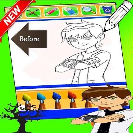 Ben 10 Coloring game 1.0 screenshots 2