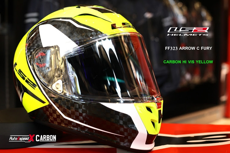 หมวกกันน็อค LS2 FF323 Arrow C Fury Carbon Hi Vis Yellow