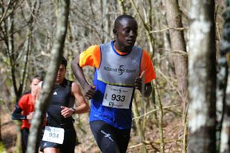 Photo: Course hors stade  22/03/2014  Trail des Trois Chapelles Bains-sur-Oust  15 km  Dieudonné Gahungu  Pacé en Courant
