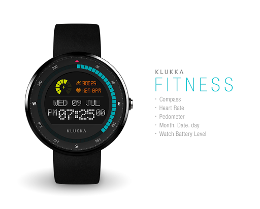 Fitness watchface by Klukka