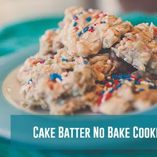 Cake Batter No Bake Cookies - Best Cookies Ever!!