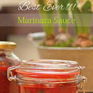 Best Ever Marinara Sauce.