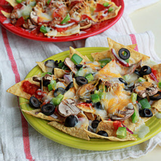 Combination Pizza Nachos with Optional Pepperoni and Sausage