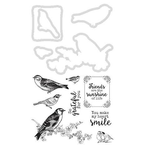 Kaisercraft Dies & Stamps - Feathered Friends UTGÅENDE