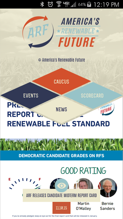 Caucus for Ethanol- screenshot