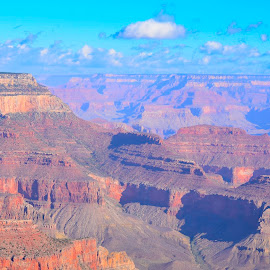 Grand Canyon by Bert Templeton - Landscapes Deserts ( red, sky, orange, canyon, blue, arizona, grand canyon, grand )