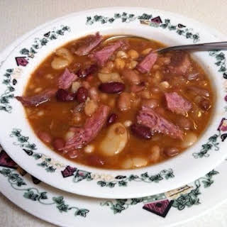 16 Bean Soup With Smoked Porkette Shoulder Butt.
