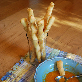 Soft Garlicy Breadsticks