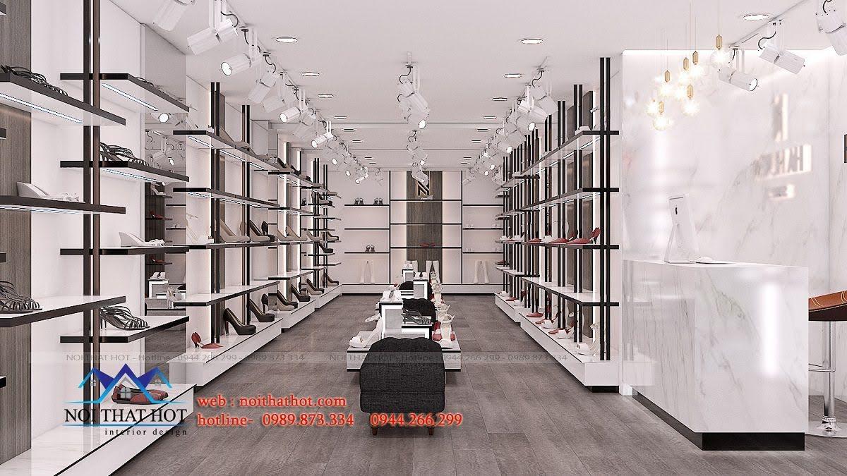 thiết kế shop giày dép thời trang ha huyen 3