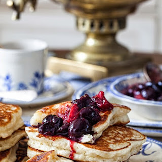 """Oladushky"" - Honey Yeast Blini ( Pancakes, Blintzes )"