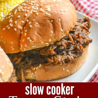 Slow Cooker Texas Style Barbecue Brisket Sandwiches.