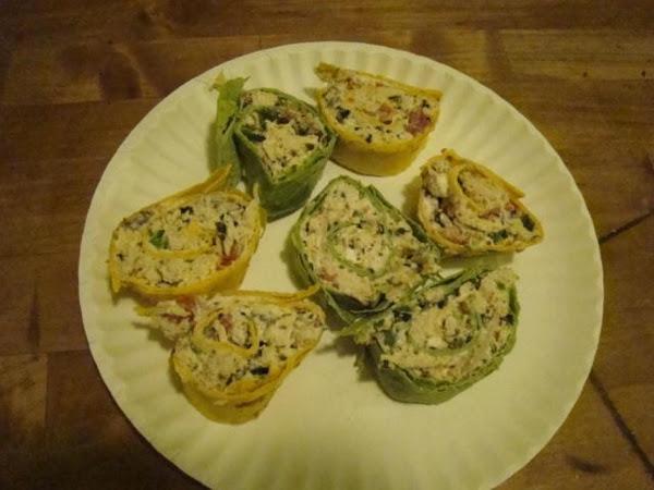 Southwest Chicken Wrap Pinwheels Recipe