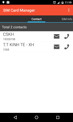 SIM Card Manager (Utility) - screenshot