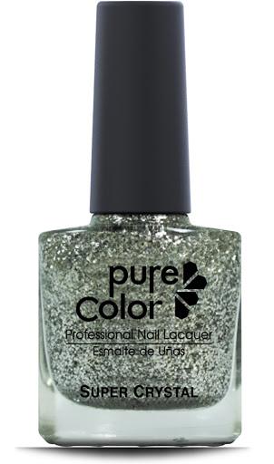esmalte pure color sparkle silver glitter pc-800 sp