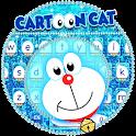 Blue Cartoon Cat Keyboard Theme icon