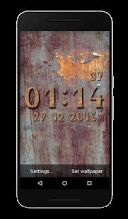 Metal Clock Live Wallpaper - náhled