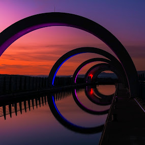 The Falkirk Wheel by James Johnstone - Landscapes Waterscapes ( falkirk, bridge, canal,  )