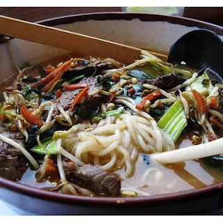 Spicy Ramen Noodle Stir Fry.