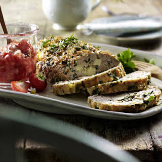 Turkey Meatloaf with Strawberry Salsa.